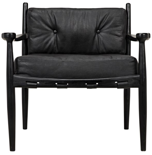 Fogel Lounge Chair, Charcoal Black