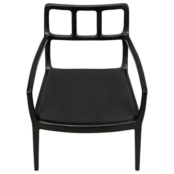 Navarro Armchair, Charcoal Black