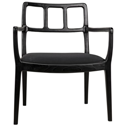Navarro Armchair, Charcoal Black