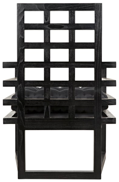 Edge Armchair, Charcoal Black