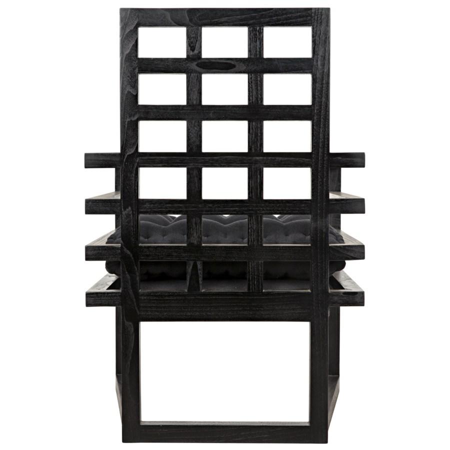 Edge Armchair, Charcoal Black