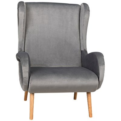 Lola Lounge Chair with Velvet, Natural
