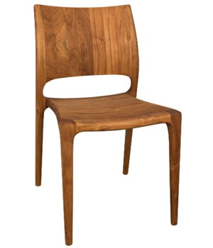 Suzu Stackable Chair, Teak, Natural