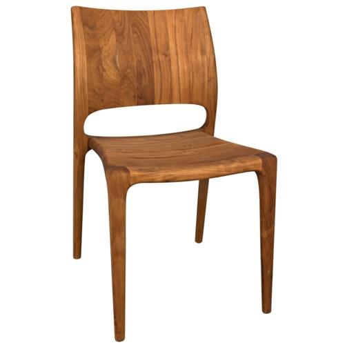 Suzu Stackable Chair, Teak, Natural