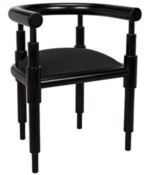 Sorbonne Chair, Charcoal Black