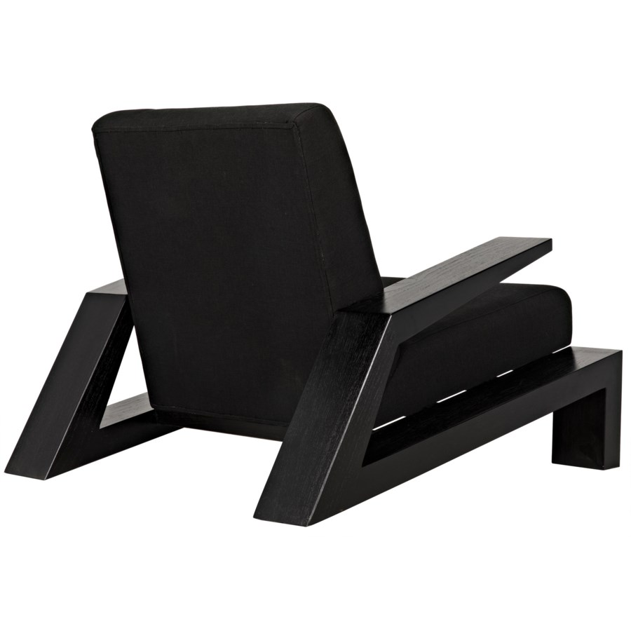Nero Chair, Charcoal Black