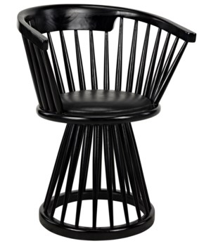 Lauda Chair, Charcoal Black