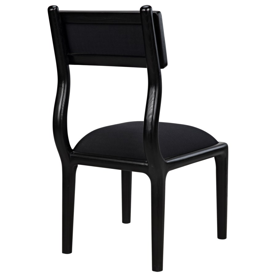 Robin Dining Chair, Charcoal Black