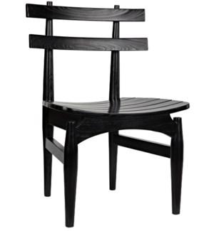 Azumi Chair, Charcoal Black