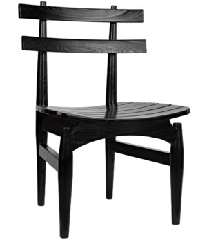Azumi Chair, Charcoal Black