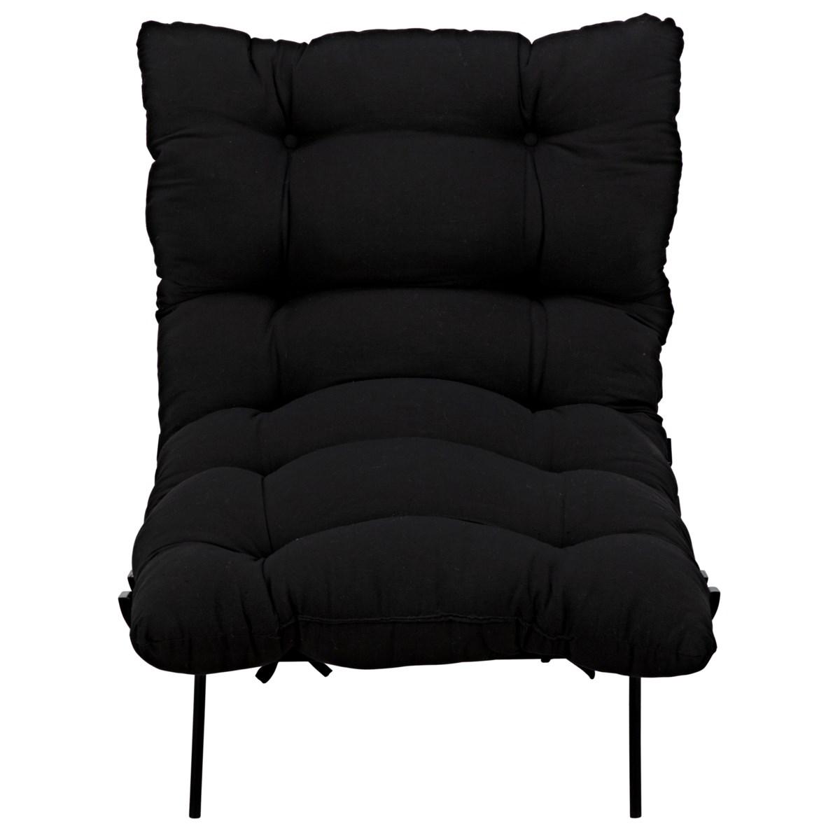 Hanzo Chair w/Metal Legs, Charcoal Black