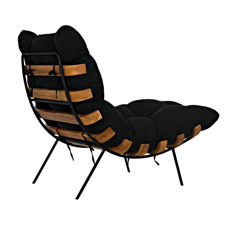 Hanzo Chair w/Metal Legs, Teak
