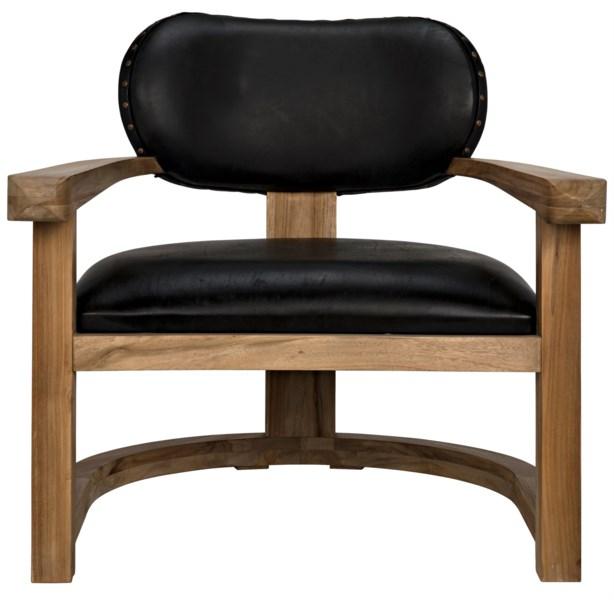 Kamaria Chair, Teak and Leather