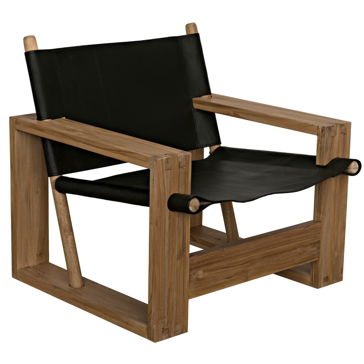 Agamemnon Chair, Teak of Leather