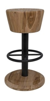 Thetis Counter Stool, Teak and Metal
