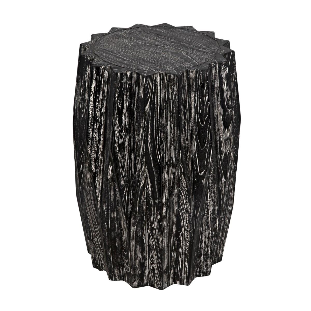 Tamela Stool of Side Table, Cinder Black