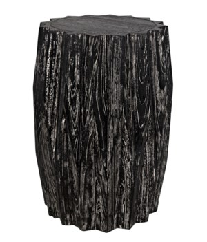 Tamela Stool/Side Table, Cinder Black