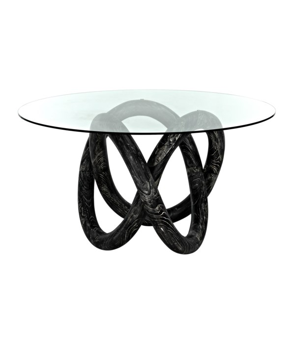 Zaza Dining Table, Cinder Black