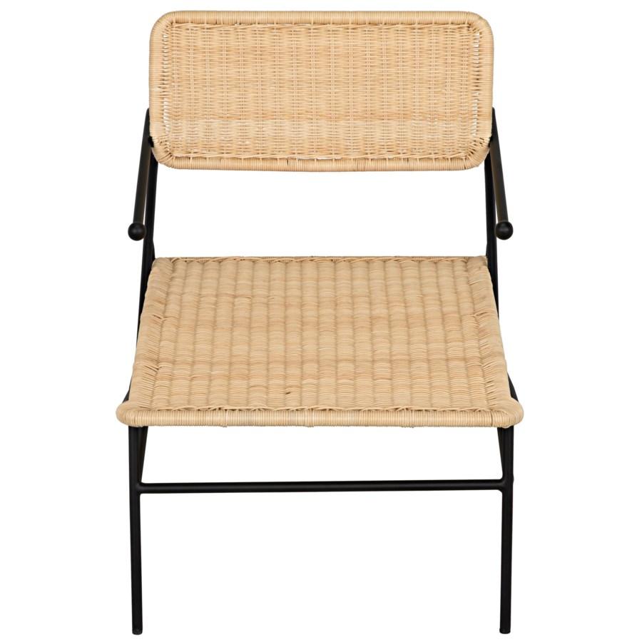Tenun Woven Chair w/Metal Frame