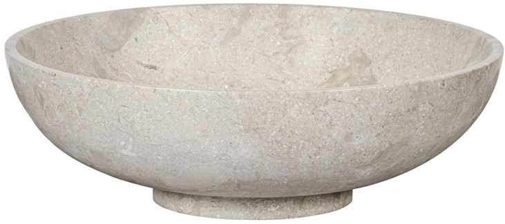 Bowl, White Marble