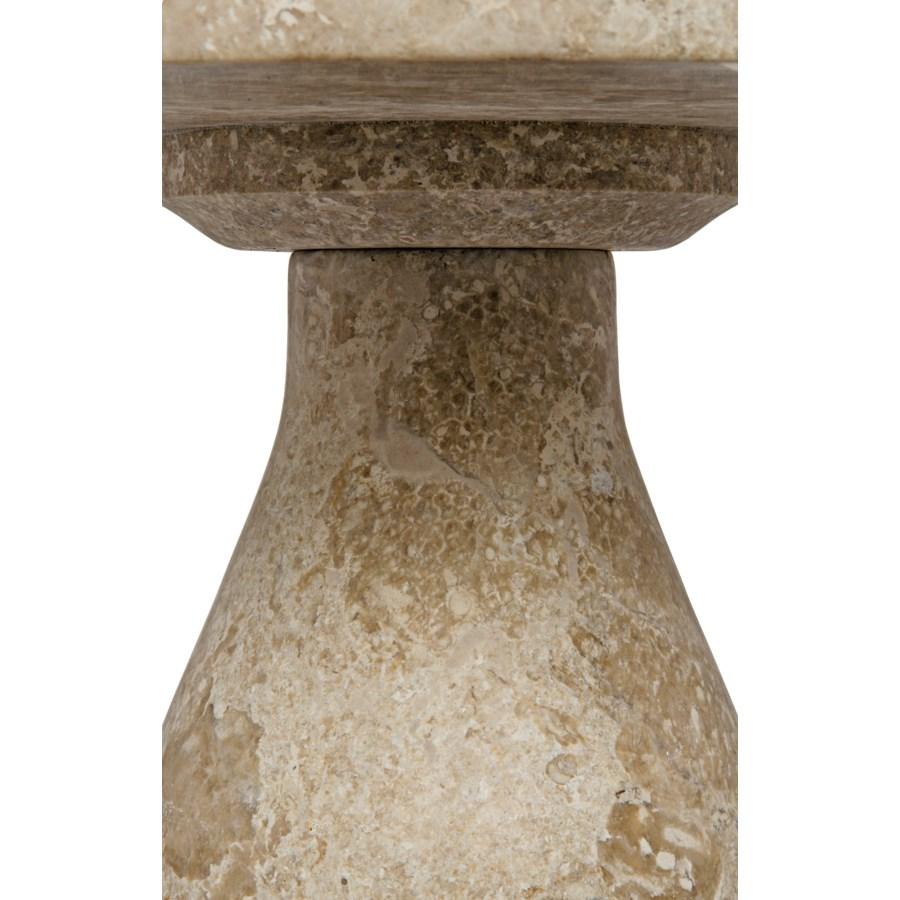 Z Lorenzo Side Table, White Marble
