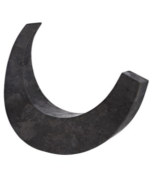 Z Wedge Sculpture, Black Marble