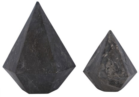 Pentagonal, Set of 2, L,S, Black Marble