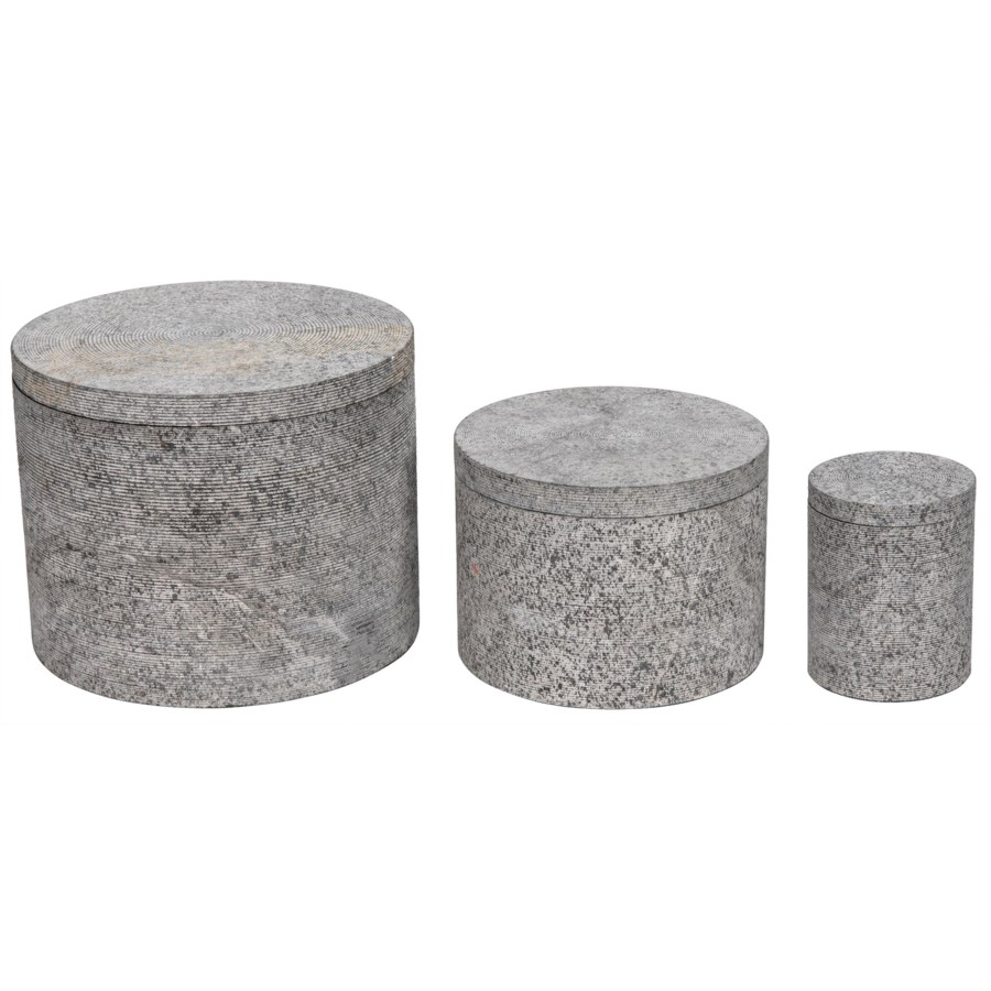 Cylinder Box with Lid, Set of 3, L,M,S