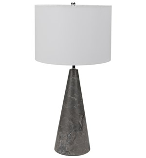 Cone Lamp with Shade, Black Marble