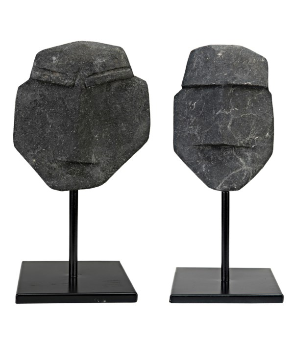 Nostromo Set of 2, Black Marble