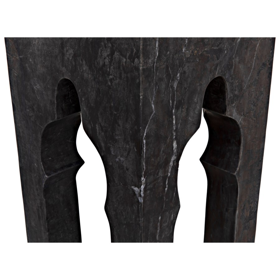 Navalny Side Table, Black Marble