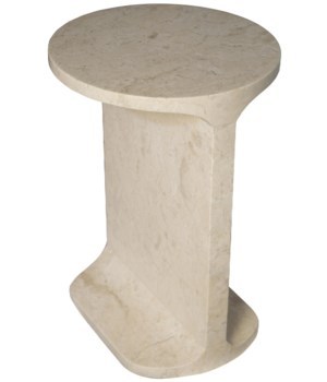 Colmar Side Table, White Marble