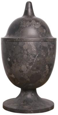Black Marble Vessel, Tall