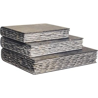Set of 3 Stone Books, Black Marble