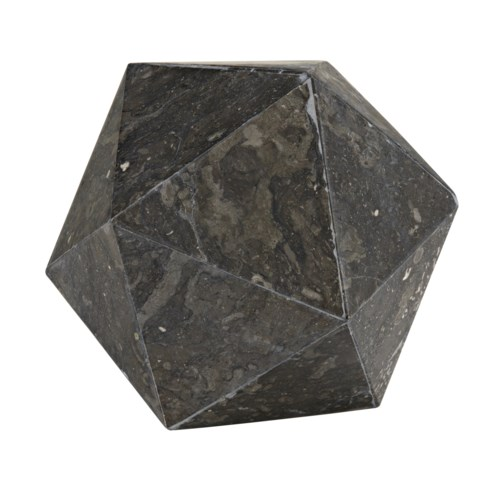 Polyhedron Object, Black Marble