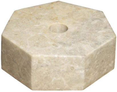 Octagon Candle Holder, Marble
