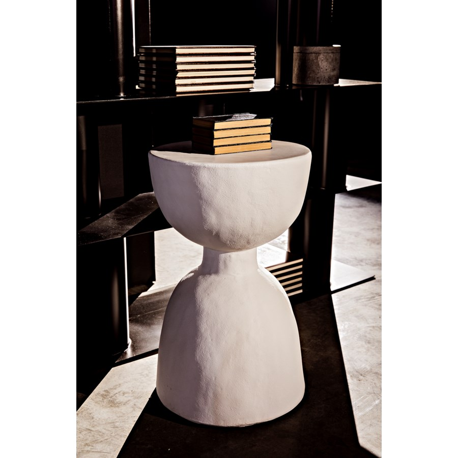 Hourglass Stool, White Fiber Cement
