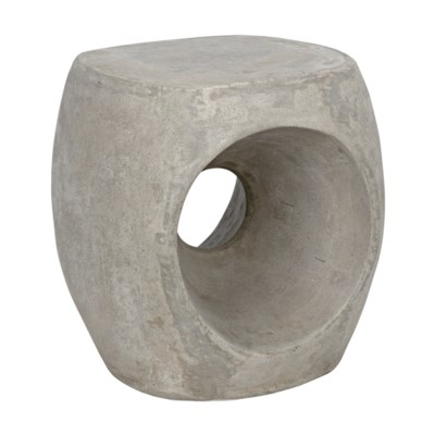 Trou Side Table/Stool, Fiber Cement