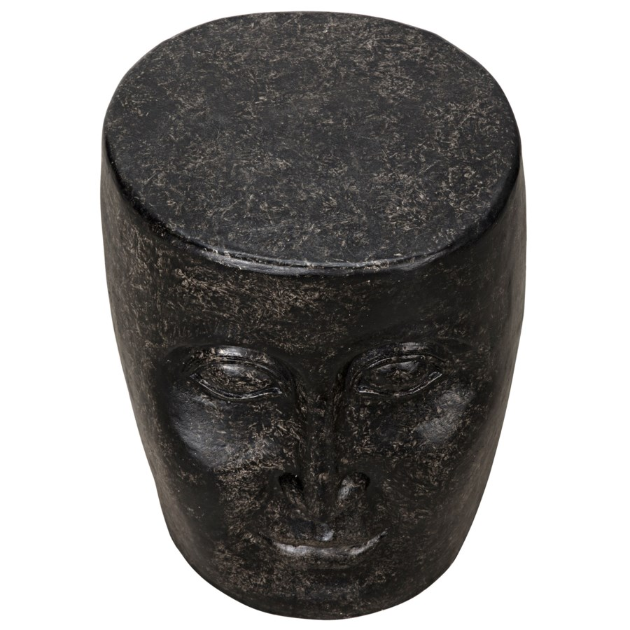 Head Side Table, Black Fiber Cement
