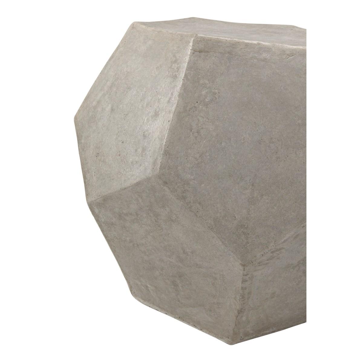 Geometry Side Table/Stool, Fiber Cement