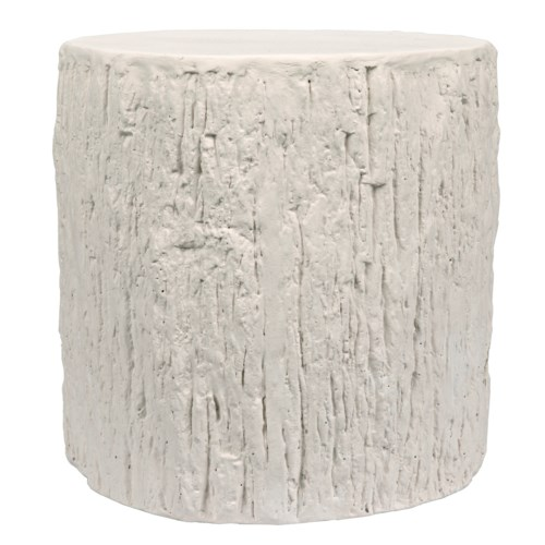 Trunk Side Table, White Fiber Cement
