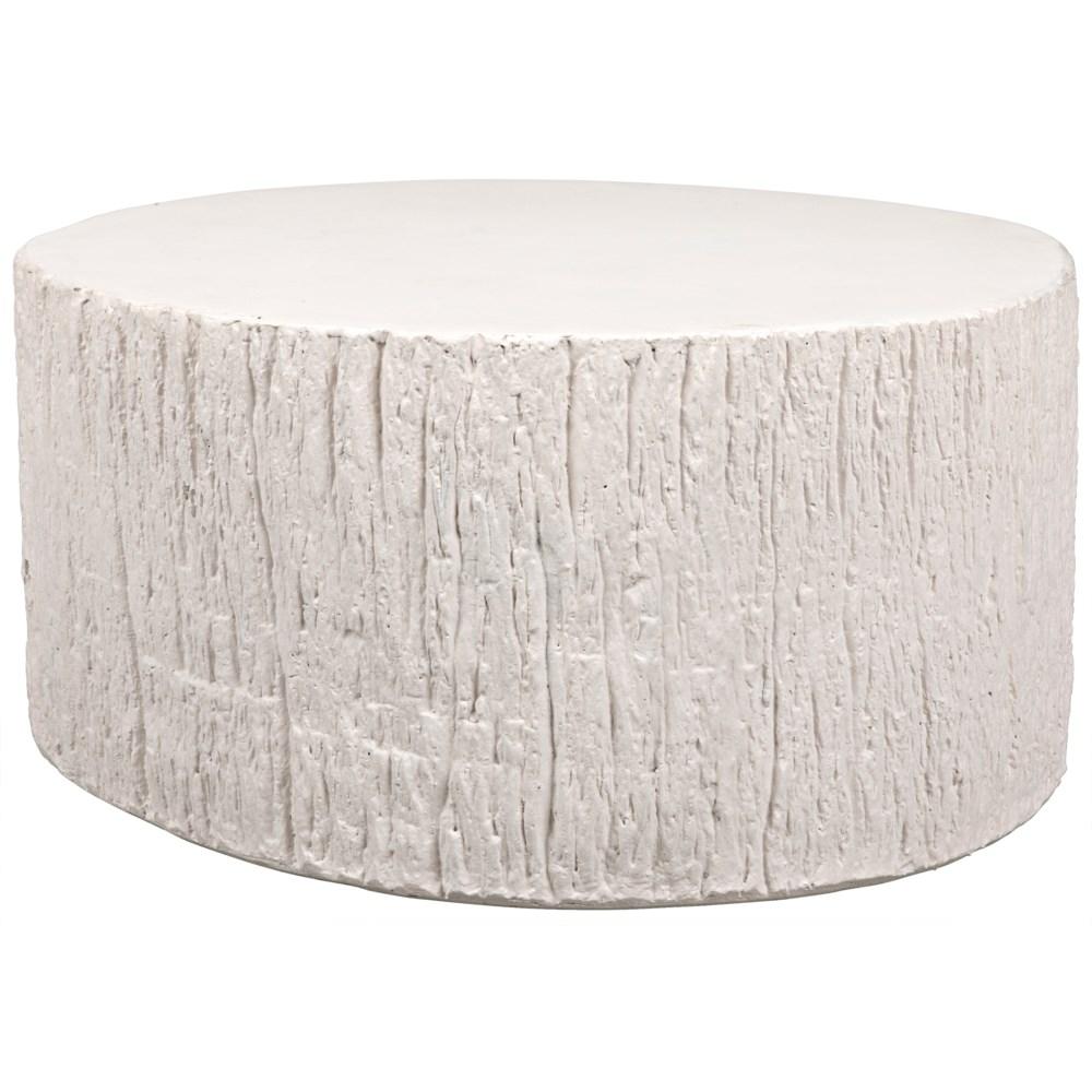Trunk Coffee Table, White Fiber Cement