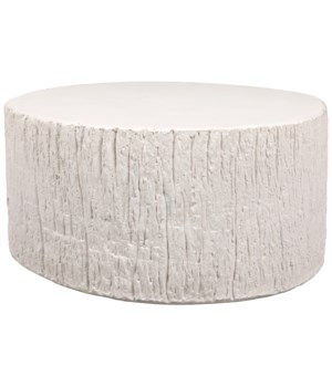 Trunk Coffee Table, White Fiber Cement