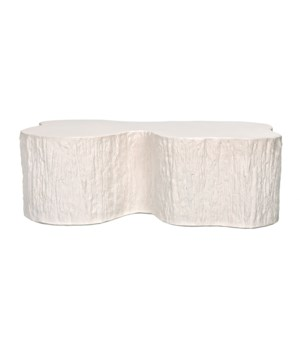 Noah Coffee Table, White Fiber