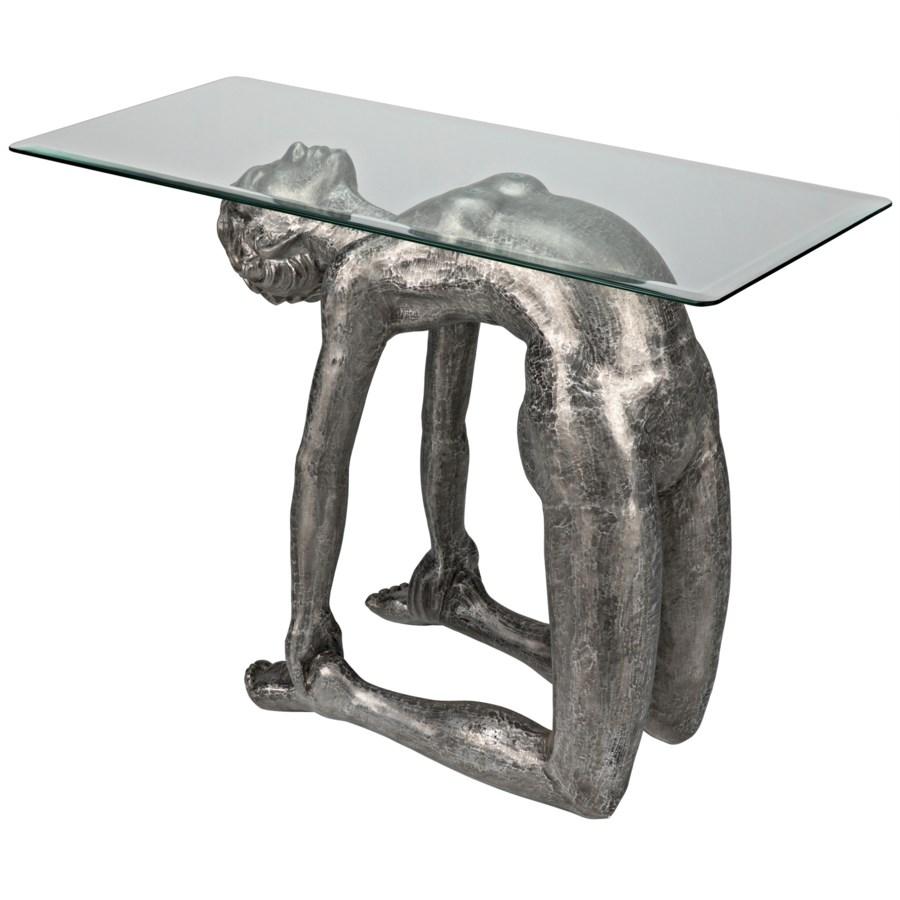 Ustrasana Table, Aluminum/Glass