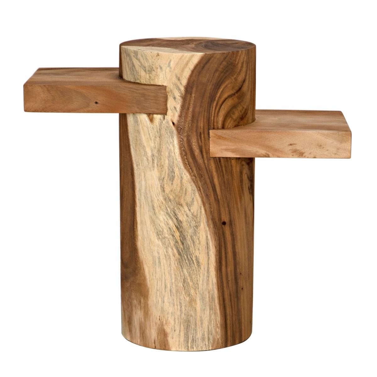Tabula Side Table, Munggur Wood