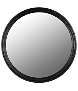 Round Mirror, Black Metal
