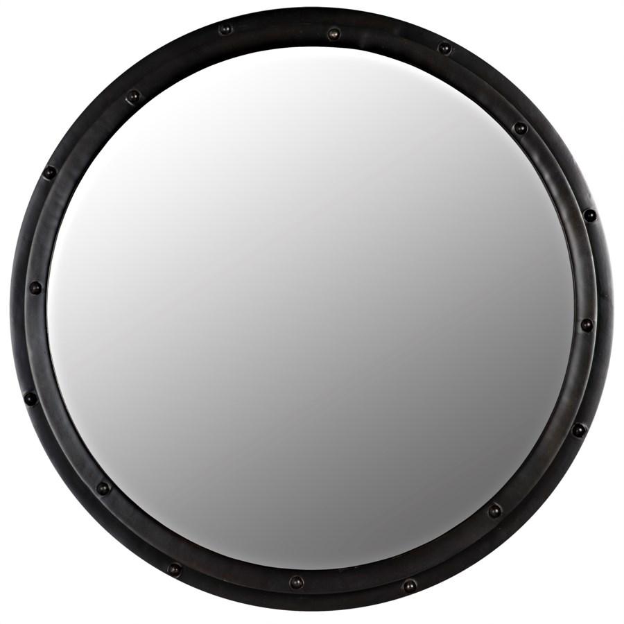 Round Mirror, Black Metal