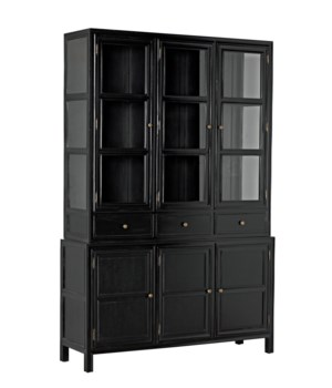 Colonial Hutch, Hand Rubbed Black