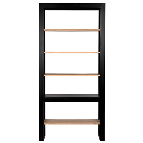 Winston Bookcase, Black Metal